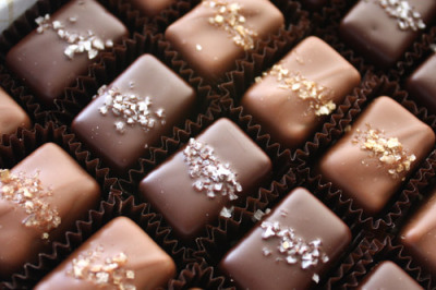 kaprince:  Salted caramels from Fran's Chocolates in Seattle. Delicious =)