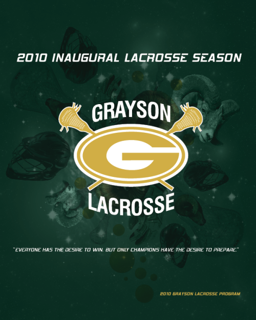 """Grayson Lacrosse Program Cover"" , 2010, Photoshop and Illustrator"