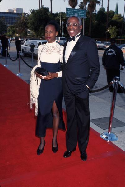 Robert Guillaume and daughter Rebecca in 1995