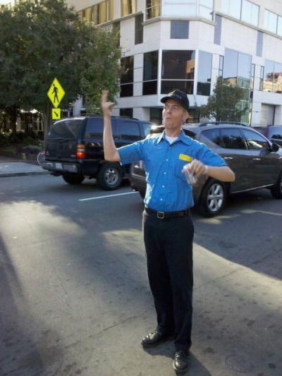 This is our saxophone player, Brent, directing RUSH HOUR TRAFFIC downtown Raleigh during Hopscotch Music Festival. Waaaay more legit than you can imagine.