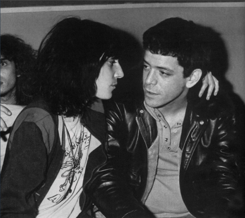 "kvetchlandia:  Patti Smith and Lou Reed     Uncredited and Undated Photograph ""My week beats your year.""  Lou Reed, ""Metal Machine Music""  1975"