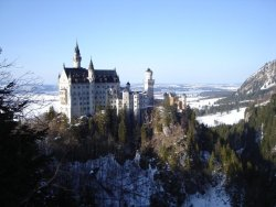 Neuschwanstein Castle. Bavaria, Germany. Picture I took on during my trip to Europe in 2007.  It was absolutely gorgeous. submitted by: http://cursingakhenaten.tumblr.com, thanks!