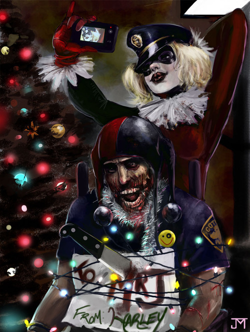 comicscorner:  Harley doing what she does best: crazy. 18 years of Harley.  Harley Quinn is 18 years old? Harley Quinn is 18 years old. Harley Quinn is 18 years old!