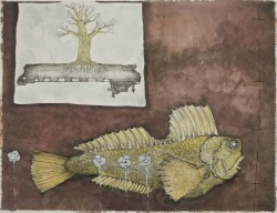 Title: Waterless Size: 19 3/4 x 25 1/2 inches Medium: crayon, ink, and watercolor Date: 2010