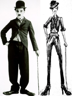 My friend Liz told me she wanted me to make her a Charlie Chaplin costume for Halloween, and I just sketched up this for fun :P