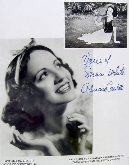 Adriana Caselotti, voice of snow white