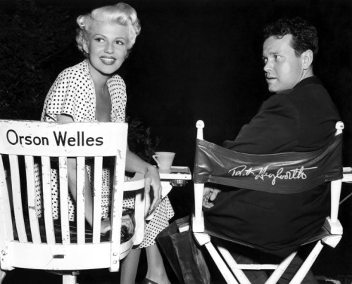 Rita Hayworth and Orson Welles C. 1947