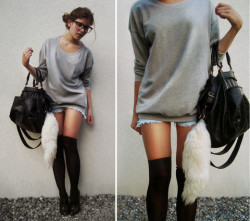 I wish I could do the sock thing so badly. lookbookdotnu:I   m the only thing I   m afraid of
