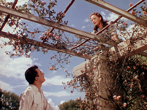 the-asphalt-jungle:  Cornel Wilde and Jeanne Crain Leave Her To Heaven - (1945)