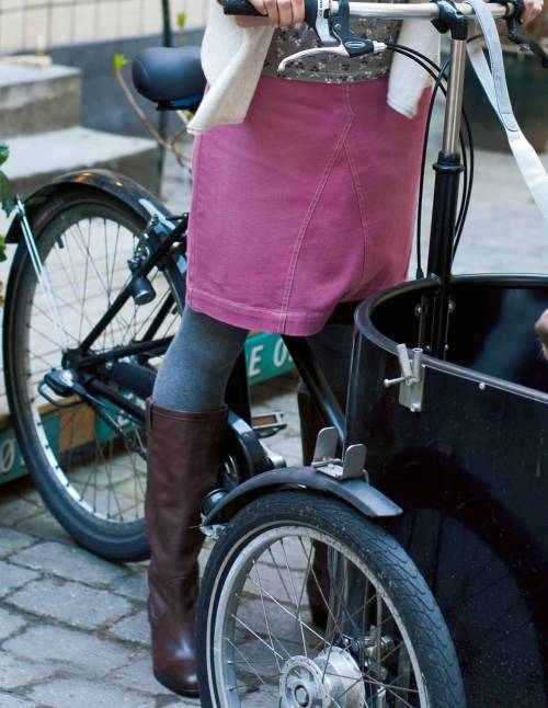 Boden Cycle Chic   Plenty of cycle chic to be found in this Autumn's Boden Catalogue.  I am quite a fan of Boden clothes, but I must admit I find most of the ladies stuff a bit dull and I generally by the kids clothes - one advantage to being small. People are always asking me where I get my clothes from and are always disappointed to discover they only come in kids sizes. Clearly Boden are missing a gap in the market there!
