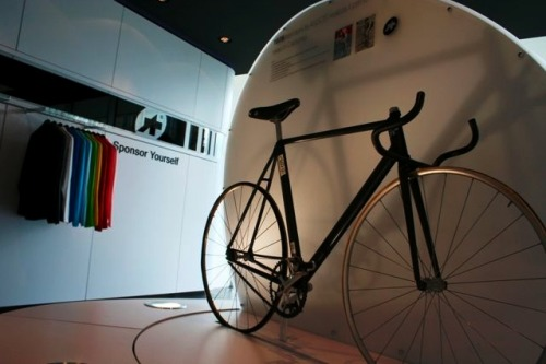 Carbon fiber, 1976.  This carbon aero track bike was built by Assos founder Tony Maier 34 years ago.  Talk about ahead of its time!  See more pictures from Zack Vestal on VeloNews.