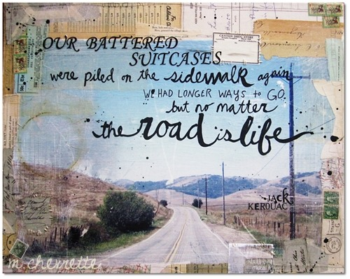 quote-book:  words by jack kerouac. art by mae chevrette.