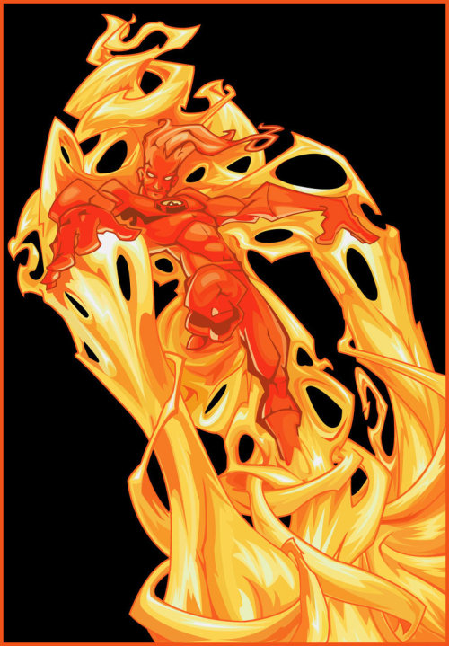 Human Torch by ~Nichollica