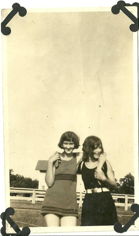 Girls in swim suits. 1930's?