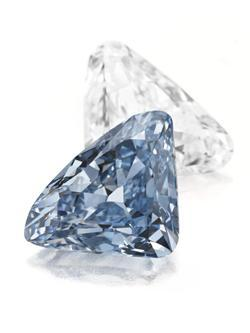 THE BVLGARI BLUE:THE LARGEST TRIANGULAR-SHAPED FANCY VIVID BLUE DIAMOND EVER TO APPEAR AT AUCTION TO LEAD CHRISTIE'S OCTOBER 20 JEWELS SALE IN NY | Press Release | Christie's