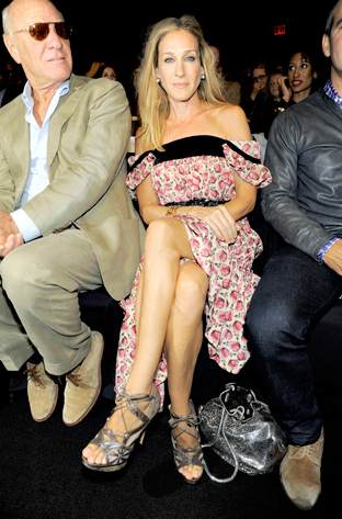 Sarah Jessica Parker Front row at the Diane Von Furstenberg Spring 2011 Ready-to-Wear show!