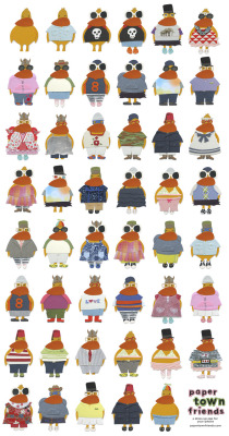 Duck Wardrobe A sampling of some duck outfits that can be created in Paper Town Friends.