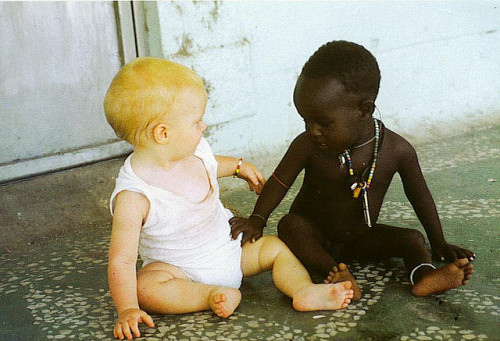 eggheadz:  cochleandashiki:  Nobody is born a racist. Society teaches it.  and maybe geographical boundaries that separate ethnic groups for centuries