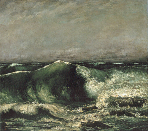 art-history:  Gustave Courbet, The Wave, 1870. Oil on canvas, 85.5 x 99.5 cm. The Oskar Reinhart Collection, Winterthur