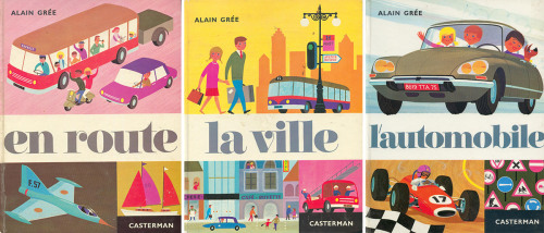 Type Tide:  Alain Grée books published by Casterman, 1963 (via Laura, maptitefabrique) | Typeface: Carousel  Font sources show Carousel was designed by Gary Gillot in 1966. These books were published in 1963. Either that date is incorrect, or there is another typeface that preceded Carousel.