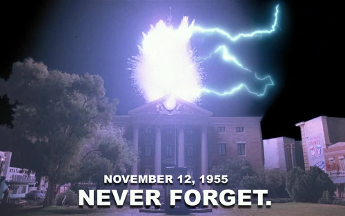danmeth:  55 Years Ago tonight…Lighting Struck the Hill Valley Courthouse Clock Tower.  Never Forget.