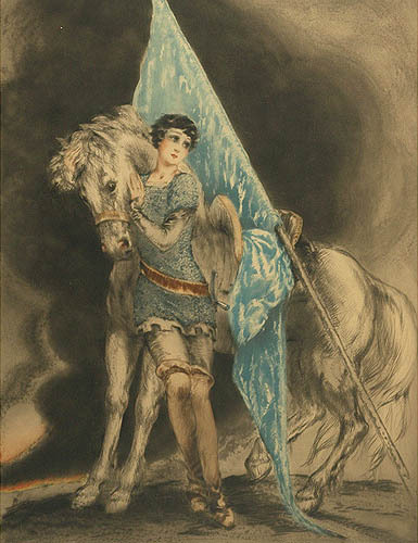 earwigbiscuits:  Joan of Arc by Louis Icart, c.1929