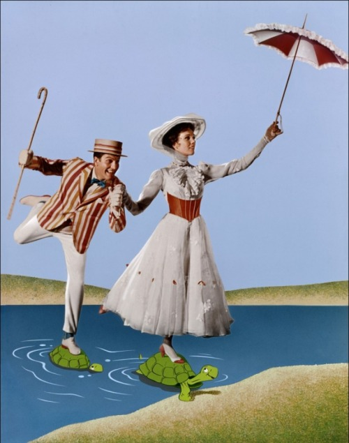 Dick Van Dyke and Julie Andrews Mary Poppins - (1964)