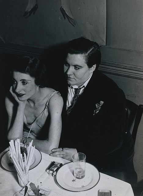 fuckyeahfemmes:  Brassai- Couple at Le Monocle 1932