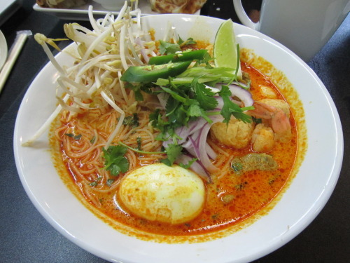 Bo Laksa King Bubbles and Bits (2546 East Hastings) Home of the best laksa in town. I always get it with vermicelli.
