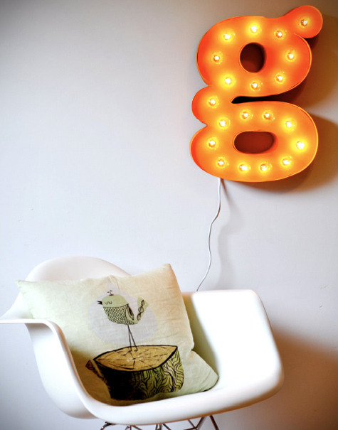 Design*Sponge » Blog Archive » diy project: letter light from curbly's new DIY book