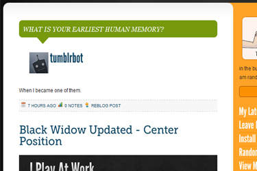 Color the Mood: Kinda colorful but presentable theme for TumblrInstall : http://www.tumblr.com/theme/12864