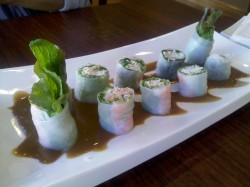 "Summer rolls say ""Welcome to the Bay.""  @ La Sen in Fremont"