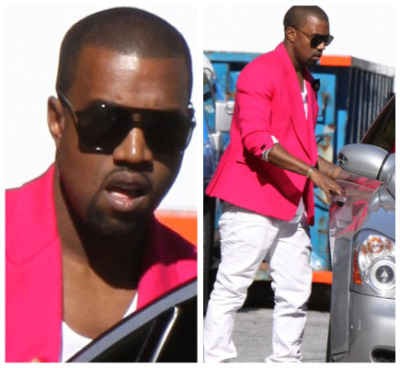 bef-blog:  Kanye Was Spotted Getting In To His Maybach After Attending The Tory Burch Fashion Show In Manhatten Today,. He Also Attended The Jeremy Scott Show Seating Front Row With Kelly Osbourne,.  reblog by: www.urbanculturemagazine.org