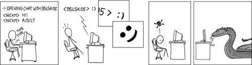 U+FDD0 is actually Unicode for the eye of the basilisk, though for safety reasons no font actually renders it.