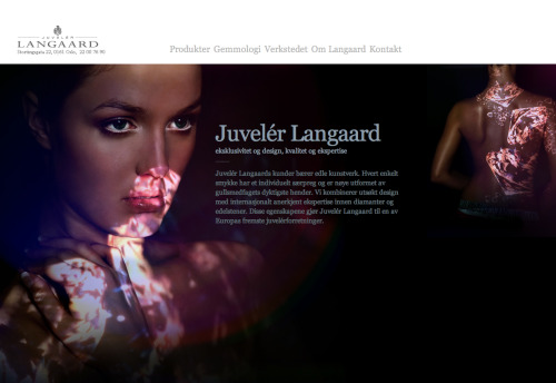Frontend programming on this jewellers site Juveler Langaard