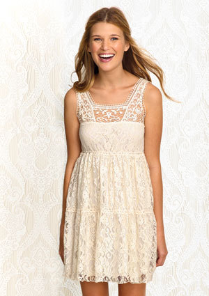 A little bit in love with this dress. I love lace.