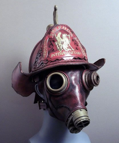 "fashiondoyenne:  These recycled steampunk gas masks are most awesome!  It reminds me of one of my favorite Dr. Who episodes from 2005, ""The Empty Child / The Doctor Dances"". I found it particularly creepy and wonderful.  Thanks for the link, Anthony!"