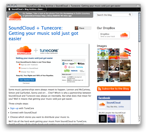 SoundCloud + Tunecore: Getting your music sold just got easier - Check out the blog post explaining the SoundCloud & Tunecore integration HERE.