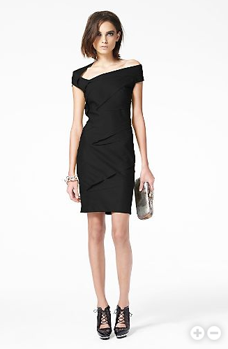 Pieced together in wool jersey, the Slasher dress by Diane von Furstenberg reads as a bandage dress all grown up - intricately folded, perfectly constructed, and simply arresting. (DvF; $465)