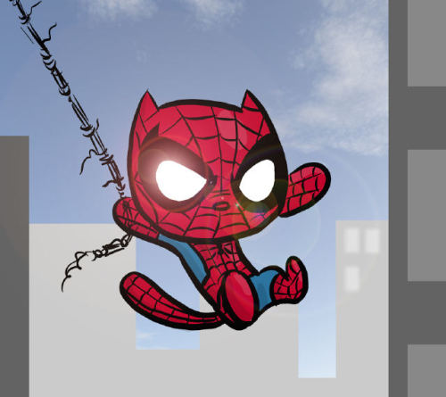 Spider-Kitty by Chris Eliopoulos. Totally better than Homer's Spider-Pig.