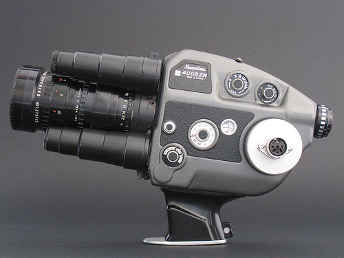 ckck:  This is a Beaulieu 4008 ZM 8mm film camera. I just saw someone selling one of these at an online auction, and I'm tempted to bid on it because how is this not the coolest film camera you've ever seen? Even if I'd never be able to shoot any 8mm film, it's got to be handy to own it in case of alien invasion. You just know there's gotta be a ray-gun setting on there somewhere.