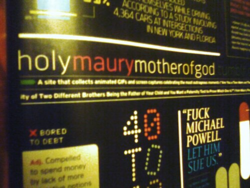 "ranga-sauce:  Holy Maury has made it into Details magazine  Must get an issue today.Today, today, today. Again, thank you so much for this info! ranga-sauce has informed me that ""it's the September issue of Details: volume 28, issue 10"""