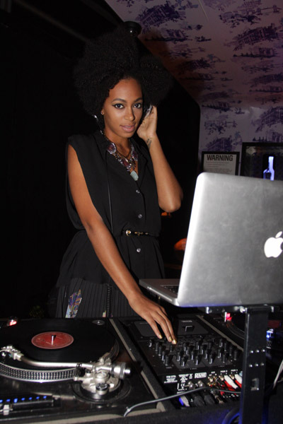 Solange DJing At The GQ & Rocawear Party 9/16/10