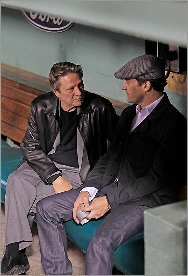 You might think that this picture of Chris Cooper chatting up Don Draper (Jon Hamm…sorry, couldn't resist the double alliteration situation) in the Red Sox dugout is the best picture out of Boston.com's gallery of The Town's Fenway Park premiere. Though, yeah, it's pretty cool, it ain't the best.   (link via the Beantown Bloggery)