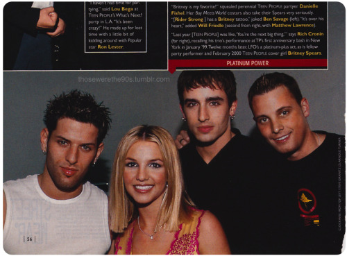 Britney and LFO (Teen People, 2000).  RIP Rich Cronin