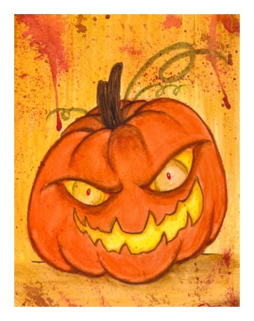 HALLOWEEN IS COMING!! :3  5x7 Watercolors. Just something quick before the night's over :)