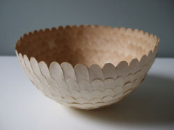 Paper bowl by Swedish Cecilia Levy.