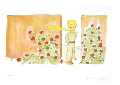 "The little prince went away, to look again at the roses. ""You are not at all like my rose,"" he said. ""As yet you are nothing. No one has tamed you, and you have tamed no one. You are like my fox when I first knew him. He was only a fox like a hundred thousand other foxes. But I have made him my friend, and now he is unique in all the world."" And the roses were very much embarrassed. ""You are beautiful, but you are empty,"" he went on. ""One could not die for you. To be sure, an ordinary passerby would think that my rose looked just like you — the rose that belongs to me. But in herself alone she is more important than all the hundreds of you other roses: because it is she that I have watered; because it is she that I have put under the glass globe; because it is she that I have sheltered behind the screen; because it is for her that I have killed the caterpillars (except the two or three that we saved to become butterflies); because it is she that I have listened to, when she grumbled, or boasted, or even sometimes when she said nothing. Because she is my rose."" - Le Petit Prince, Antoine de Saint-Exupéry, 1943; translated from the French by Richard Howard"