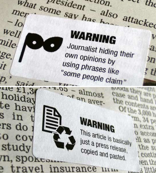 szymon:  Journalism Warning Labels from Tom Scott