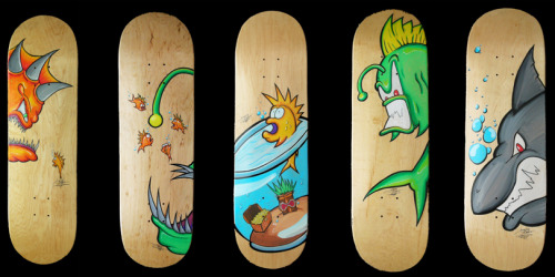 Artist Joseph Tubb is at it again. These skateboard decks he did with the Posca Markers are awesome!! Check out more of his work : www.JosephTubb.com